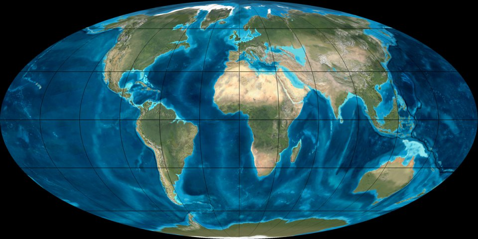 the vast changes in the earths climate since 55 million years ago to present Our changing continent north american continent 1 million years ago, compared to their present of the successive changes that have occurred on the earth.