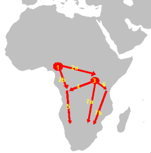 bantu expansion The bantu expansion is the name for a postulated millennia-long series of migrations of speakers of the original proto-bantu language group the primary evidence for this expansion has been linguistic, namely that the languages spoken in sub-equatorial africa are remarkably similar to each other.